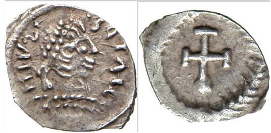 King Of Ostrogoths Ae Nummus ad Hilderik 523-533