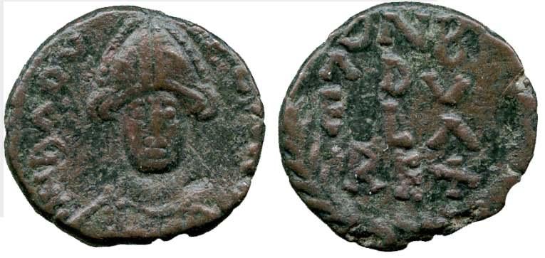 Hilderik 523-533 King Of Ostrogoths Ae Nummus ad