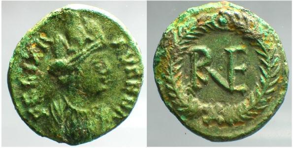 King Of Ostrogoths ad Ae Nummus Hilderik 523-533
