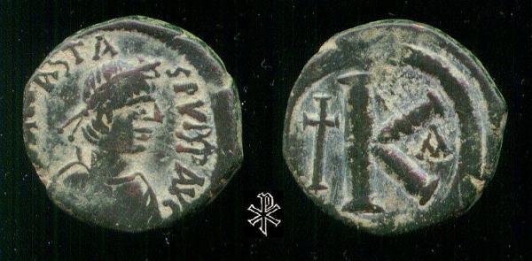 20 nummi de Anastasio I. Sb0025