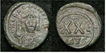 Medio Follis de Heraclio ,Cartago, tipo sin barba Sb0873