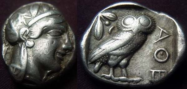 Athens Ar Tetradrachm Attica After 449 Bc.