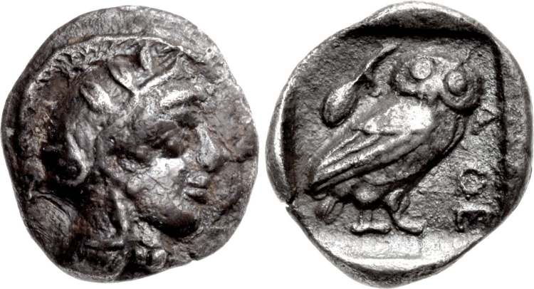 After 449 Bc. Attica Athens Ar Tetradrachm