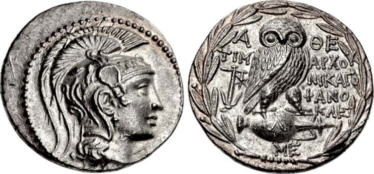 Athens Ar Tetradrachm After 449 Bc. Attica