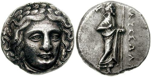 caria  satraps  maussollos - ancient greek coins