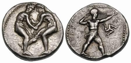 Pamphylia, Aspendos - Ancient Greek Coins - WildWinds com
