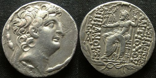 Tetradracma de Antioco VIII. Newell_408