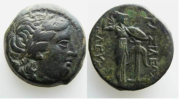 AE 21 seleucida de Seleuco I Nikator, acuñada en Antioquia ad Orontes SC_015@1