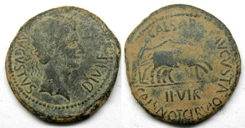 Spain, Caesaraugusta, ancient coins index with thumbnails
