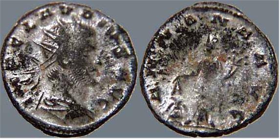 Antoniniano de Claudio II.  ANNONA AVG.   Milán RIC_0139