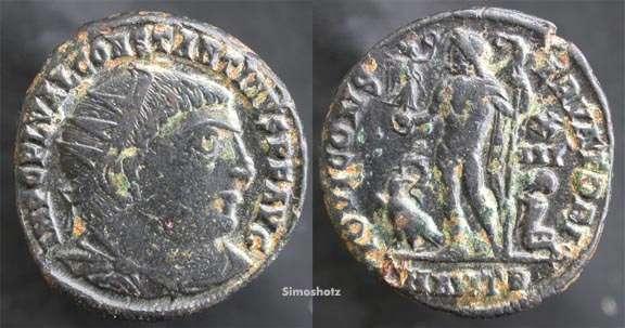 Nummus de 12,5 denarios comunes de Constantino I. IOVI CONSERVATORI. Antioch. _antioch_RIC_VII_034