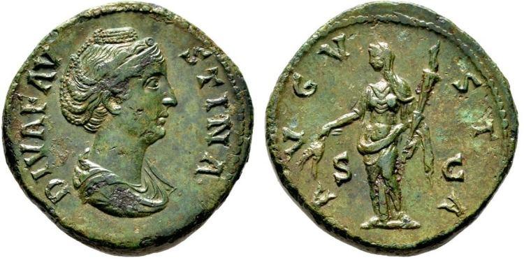 Sestercio de Faustina I. AVGVSTA /S C. Ceres RIC_1117