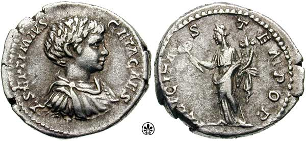 Geta, Roman Imperial Coins reference at WildWinds com