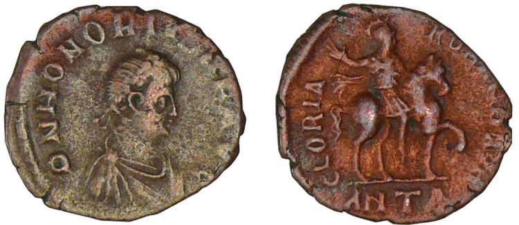 Honorius, Roman Imperial Coins reference at WildWinds com