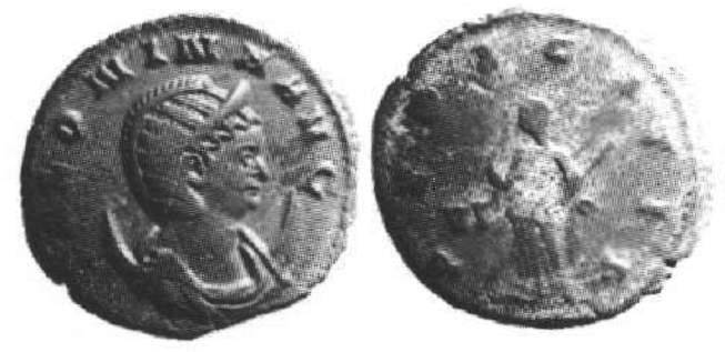 Coins: Ancient Salonina Augusta Antoninianus Siscia Pietas Avg Pietas Scarificing Altar Ric 79