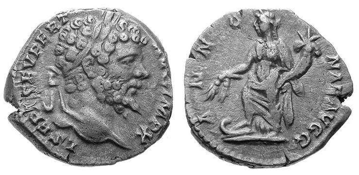 Septimius Severus, Roman Imperial Coins of, at WildWinds com