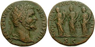 Sestercio de Septimio Severo (MONET AVG COS II P P) RIC_0678