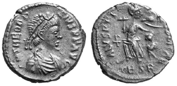 "Bronze de Théodose ""SALVS REIPVBLICAE"" ... _thessalonica_RIC_065b3.1"