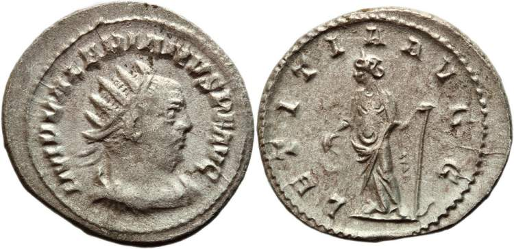 Valerian I, Roman Imperial Coins of, at WildWinds com
