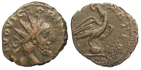Divus Victorinus Antoninianus - Eagle on globe - Elmer 785