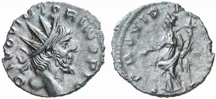 Victorinus, Roman Imperial Coins of, at WildWinds.com