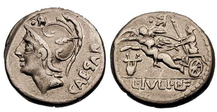 L julius caesar denarius 103 bc caesar head of mars left in ref julia 4a denarius l julius lf caesar freerunsca Images