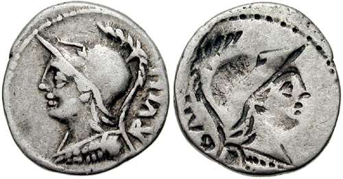 Servilia, Roman Republic Coins reference at WildWinds com