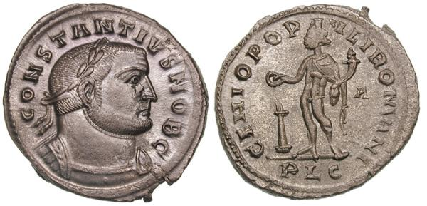 Constantius I, Roman Imperial Coins reference at WildWinds.com